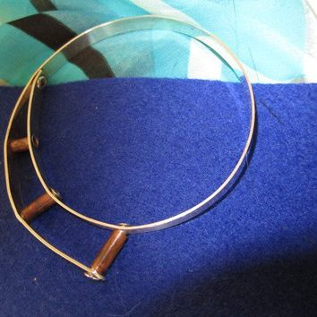 Mixed Metal Silver and Copper Bangle