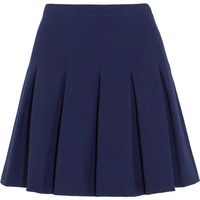 Diane von Furstenberg - Gemma pleated stretch-jersey mini skirt