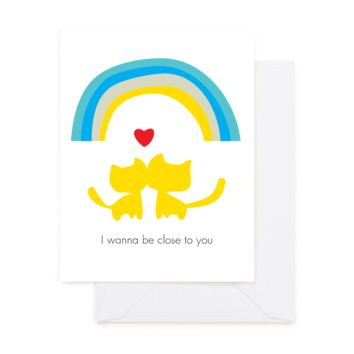 RAINBOW CATS LOVE GREETING CARD