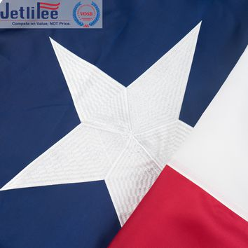 Jetlifee Texas State Flag 3 x 5 Ft by Embroidered and Sewn Flags Decorative Flags with 2 Grommets