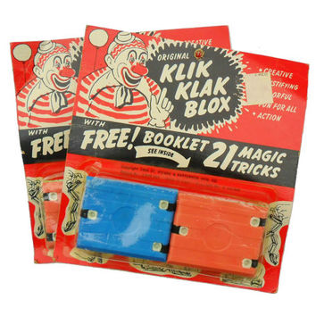 Vintage Klik Klak Blox 1960s Toy Magic Tricks Alphabet Creative Educational Toys Building Blocks NOS 2 Available Buy One or Both