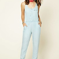 Buttoned Chambray Jumpsuit