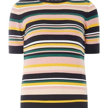 Multi-Stripe Tee - Knitwear - Clothing