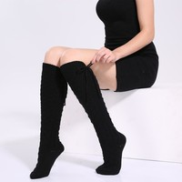 Thick Knit Knee High Socks - 4 Colors