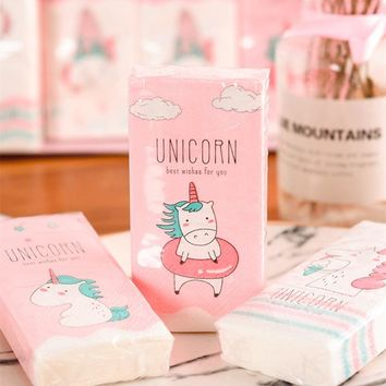 4pack Unicornio Paper Napkin 100% Virgin Wood Tissue Unicorn Birthday Party Decorations Kids Baby Shower Table Decoration Favors