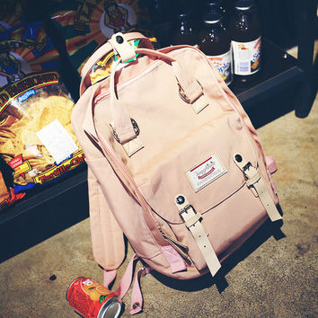 Large Pink Backpack Travel Bag