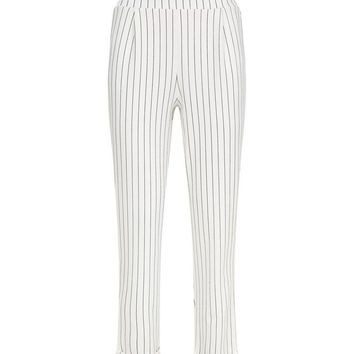 White Vertical Stripe Trousers | New Look