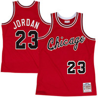 Mitchell & Ness Chicago Bulls Michael Jordan 1984-1985 Hardwood Classics Authentic Rookie Road Jersey