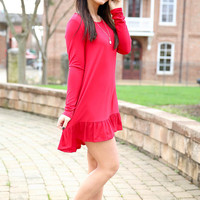 basically yours dress - red