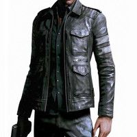 Men Leather Jacket Motorcycle Jacket Men