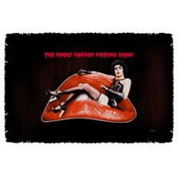 The Rocky Horror Picture Show Frank Lips Woven Throw