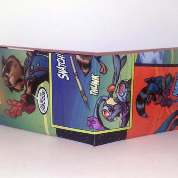 Comic Book Wallet// Rocket Raccoon