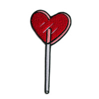 Heart Lolli Chenille Patch