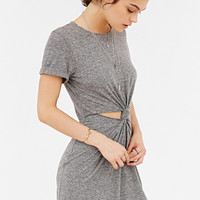 Honey Punch Knot-Front T-Shirt Dress | Urban Outfitters