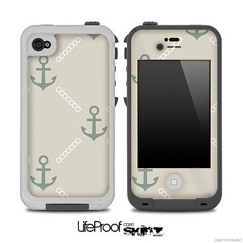 Vintage Anchor V1 Skin for the iPhone 5 or 4/4s LifeProof Case