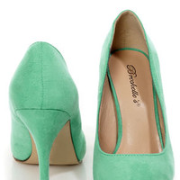 Holly 41 Mint Pointed Pumps