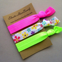 The 3-Pack Cassy Hair Tie Collection - 3 Elastic Hair Ties by Elastic Hair Bandz on Etsy