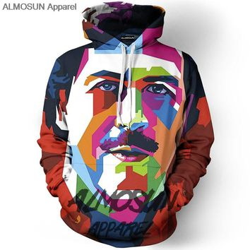 ALMOSUN Rainbow Pablo Funny3D All Over Print Pullover Hoodies Hip Hop Streetwear Humor Hipster Casual Men Women Jumper