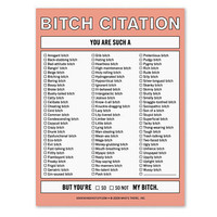 KNOCK KNOCK BITCH CITATION PAD