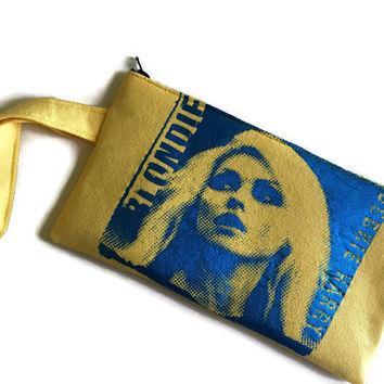 Blondie Bag Upcycled Tshirt Bag Blondie Clutch