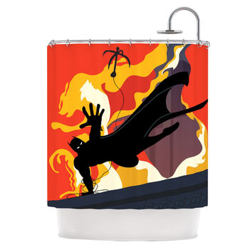 "Kevin Manley ""Prodigal Son"" Batman Fire Shower Curtain"