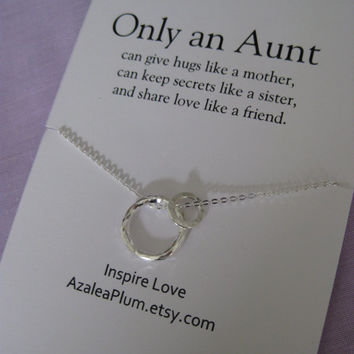 AUNT Necklace // Godmother // Aunt Jewelry Sterling Silver /// New Aunt Gift // Grandma Necklace // Simple Sterling Silver // Gift for Aunt