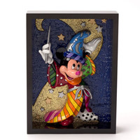Enesco Romero Britto Disney Sorcerer Mickey Pop Art Block NIB 4033870
