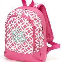 Monogrammed Pink Sadie Preschool Backpack
