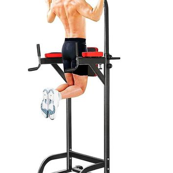 Chin Up Bar Adjustable Abs Workout Knee Crunch Triceps Station