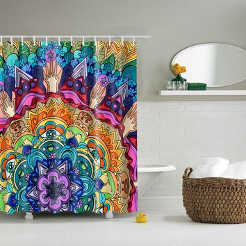 Psychedelic Mandala Shower Curtain