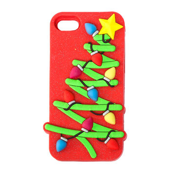 3D Light Up Glitter Christmas Tree Case for iPhone 6 and 6s