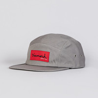 Flatspot - Diamond OG Script 5 Panel Cap Grey
