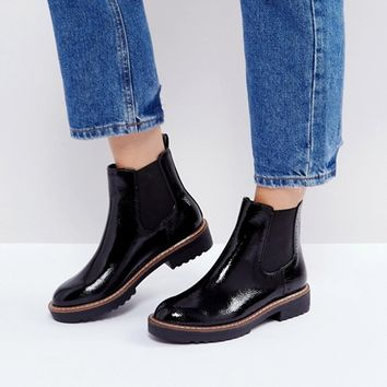 Glamorous Black Chunky Sole Chelsea Boots at asos.com