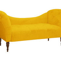 Cameron Tufted Chaise, Canary