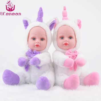 UCanaan 13.7Inch/35CM Soft Stuffed Animals Unicorn Plush Toys Animal Kawaii Doll Cotton Unicorn Brinquedo Christmas Gift  Kids