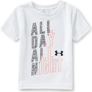 Under Armour Baby Boys 12-24 Months Short-Sleeve All Day All Night Tee | Dillards