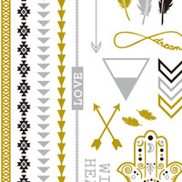Metallic Tattoos- Wild Heart Mix