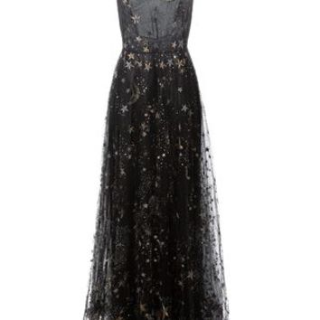 Valentino Star And Moon Embroidered Evening Dress - Stefania Mode - Farfetch.com