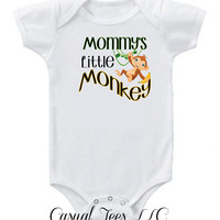 Mommy's Little Monkey Funny Onesuit Bodysuit for the Baby