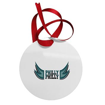 Philly Philly Funny Beer Drinking Circular Metal Ornament by TooLoud