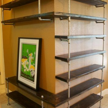 Industrial wrap around Shelving Unit
