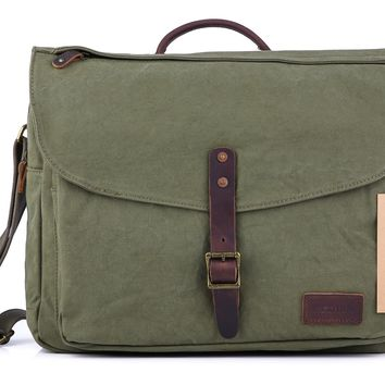 #60611 Canvas Laptop Messenger Bag