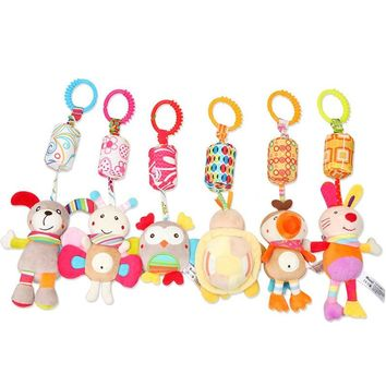 Baby kids Hanging Rattles Infant Plush Bed Bells Soft Stroller Pram Crib Toys Colorful cartoon Rattle Toy for Bebe 0-12 Months