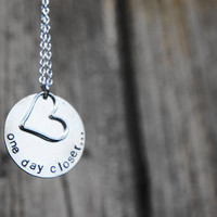 One day closer necklace. deployment jewelry. usaf army navy usaf uscg military