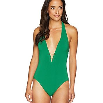 Robin Piccone Luca Deep Plunge One-Piece