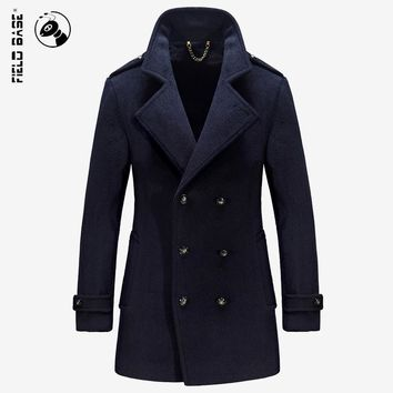 2017 Hot Selling Winter Autumn Woolen Jackets Men's Casual Jackets Coats Male Outerwear Wool & Blends Size M-4XL Field Base