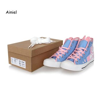 Ainiel Hot Game OW D.Va Cosplay Costume DVA DJ Tracer Mercy Cosplay Boots Flat Heel Shoes Halloween Party  For Girls and Women