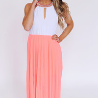 Coral Jewel Top Maxi