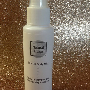 Dry Oil Body Mist - lightly scented or unscented - Cruelty Free- Handmade