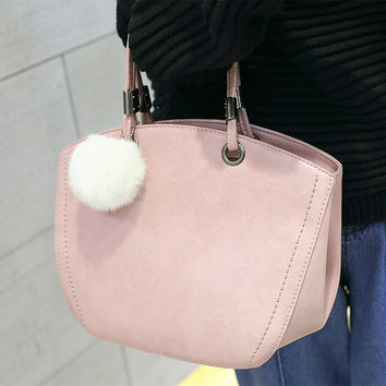 Matte Shoulder Bags Bags Winter Simple Design Stylish Korean Tote Bag [6582898695]